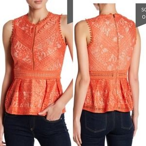 Romeo & Juliet Couture Sleeveless Lace Blouse M